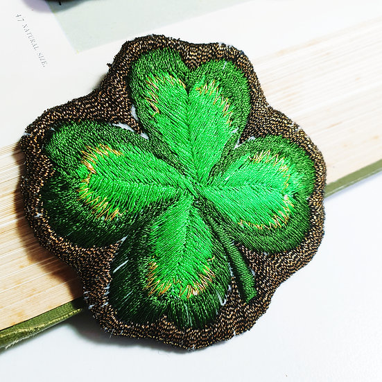 Good Luck Clover Brooch