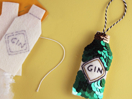 How to Sew Your Sequin Gin Bottle Kit!