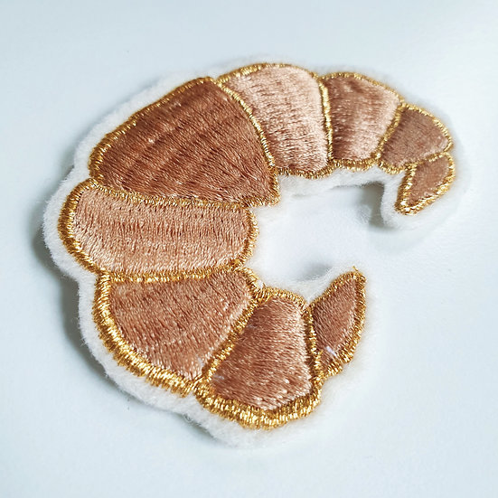Croissant Embroidered Sew on Patch