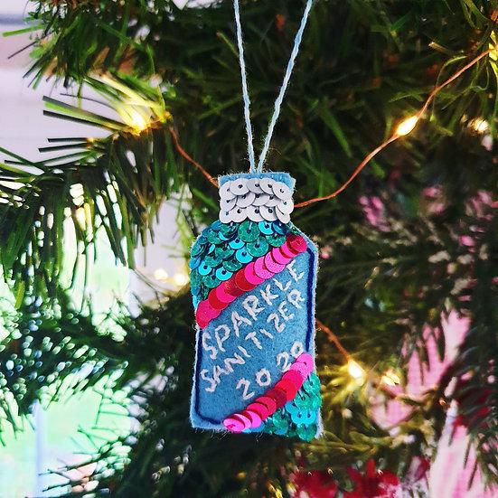 Sequin Sparkle Sanitizer Ornament