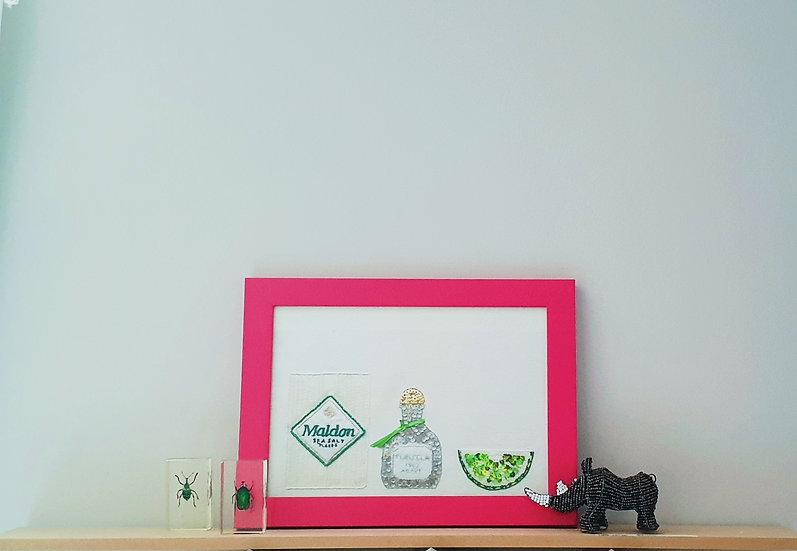 Fine Art Print Salt, Tequila, Lime A4