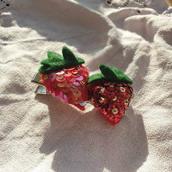 The Double Strawberry Hair Clip