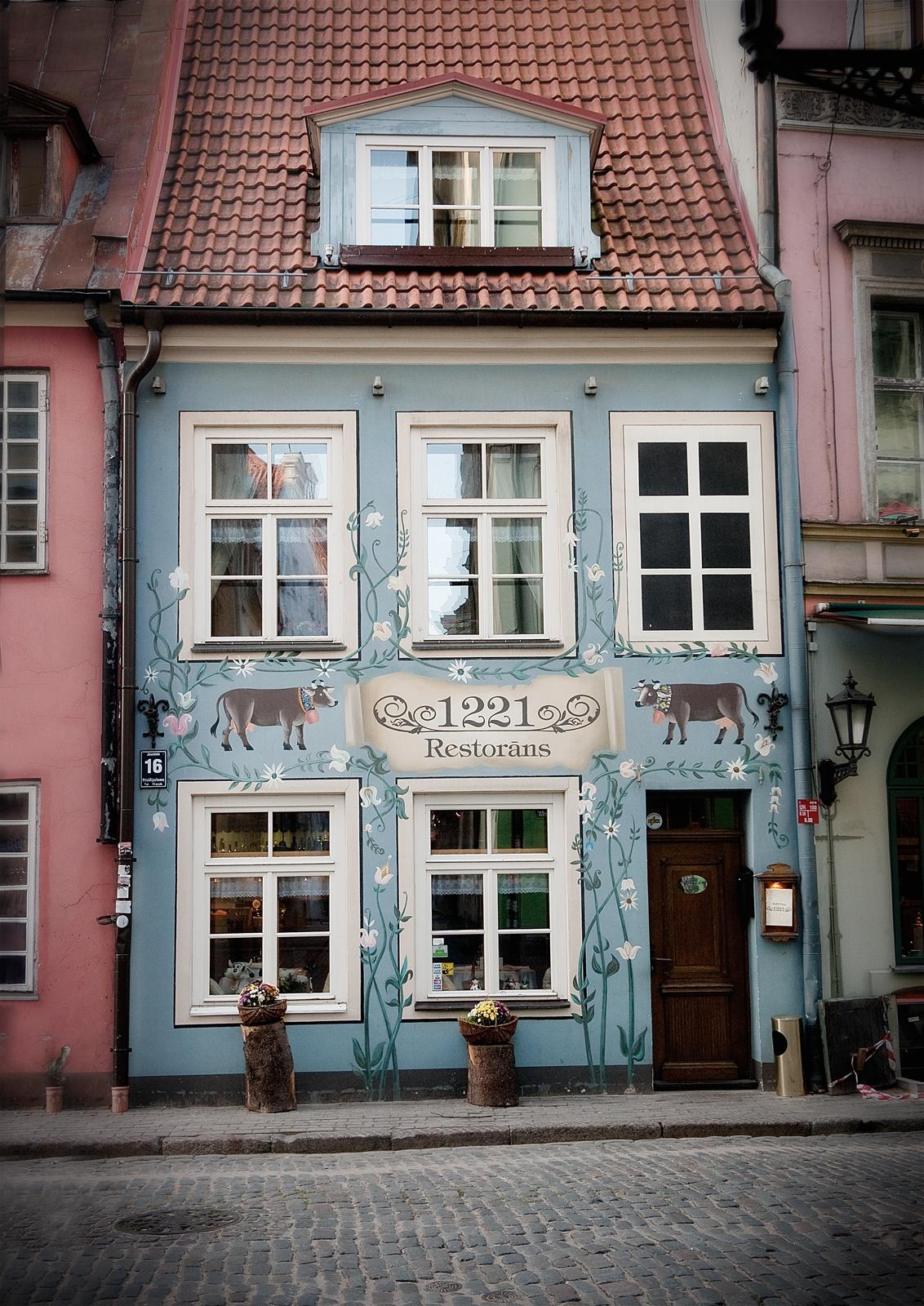 The blue house Riga