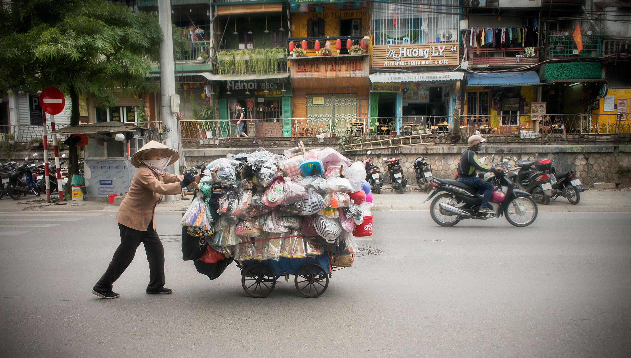 Hanoi-dam-försäljare