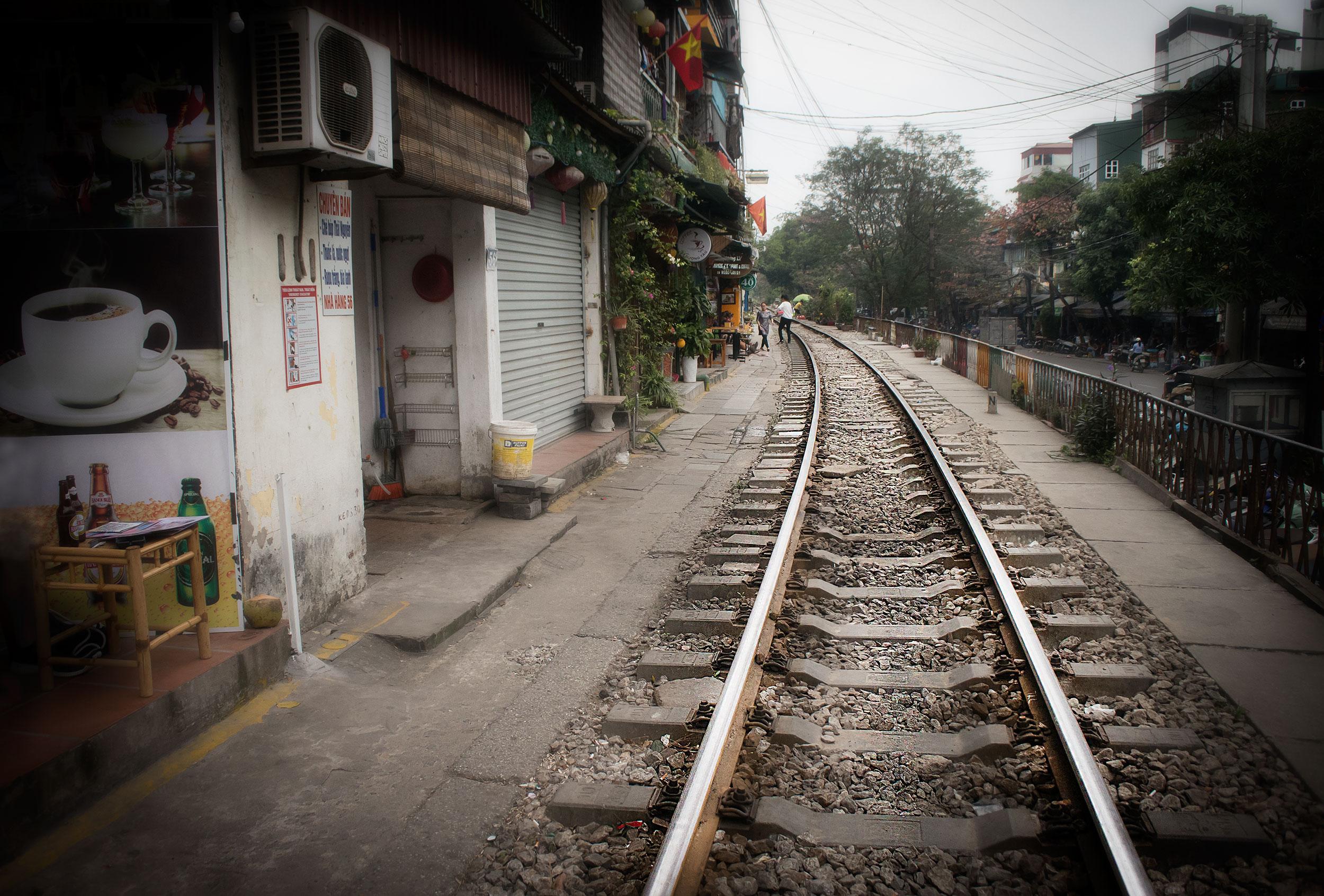 Hanoi-järnväg-spår