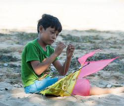 Bali kite boy