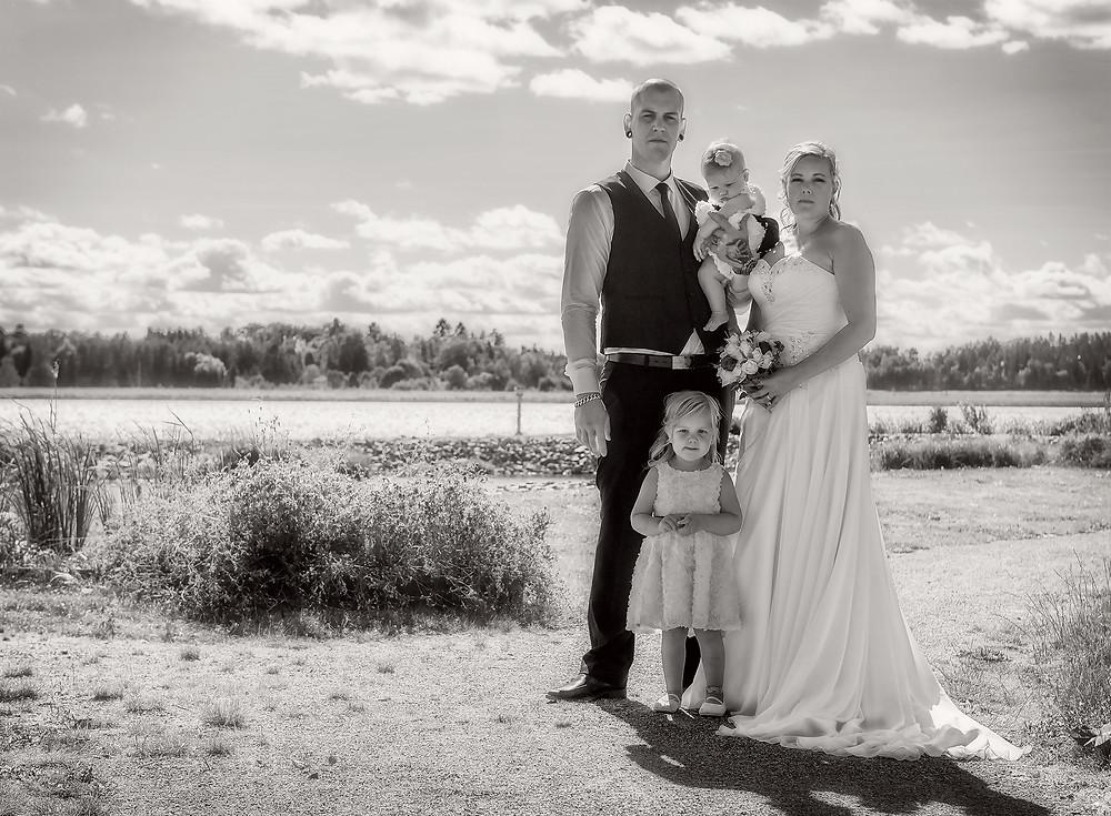 Svartvitt kan passa även för bröllop.