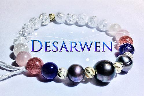 Nacre améthystes quartz fraises, roses et cristal de roche
