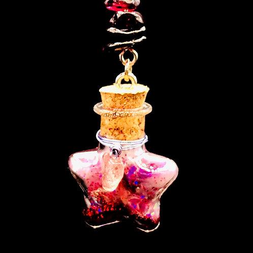Fiole Talisman quartz fraise