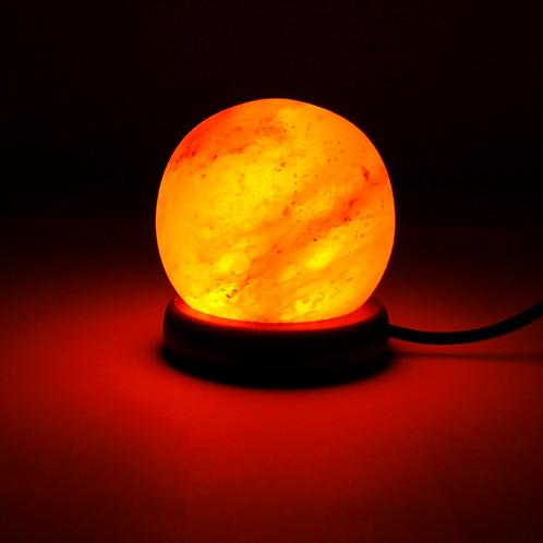 Mini lampe en pierre de sel USB
