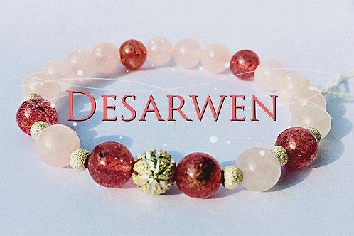 Quartz roses quartz fraises et argent 925