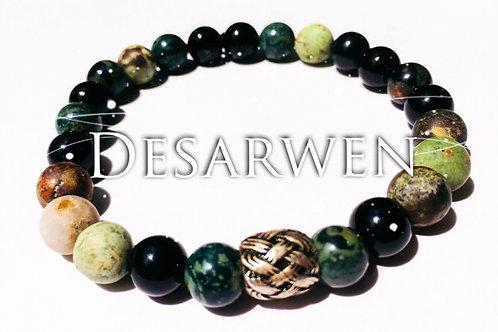 Bracelet opales, onyx, jaspe