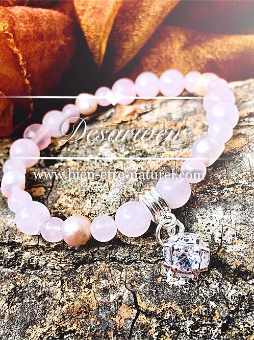 Bracelet Quartz Rose & Nacre