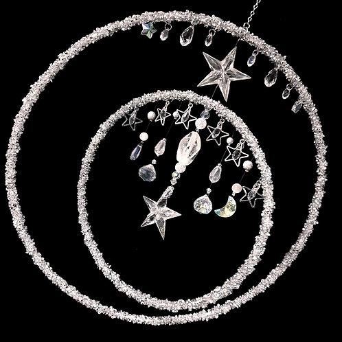 Arc en ciel rotatif cristal pierre de lune