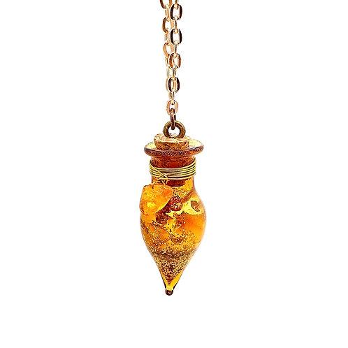 Fiole ambre pierre de soleil