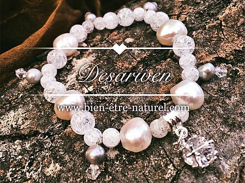 Bracelet Nacre et Cristal de roche