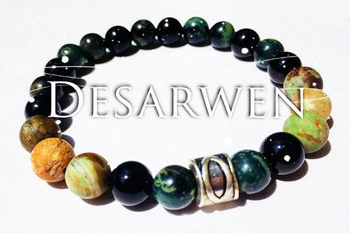 Bracelet opales, jaspe kambaba, onyx
