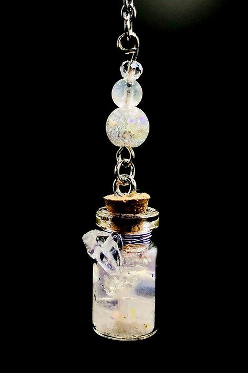 Fiole Talisman Harmonisante purifiante  cristal Pierre de lune