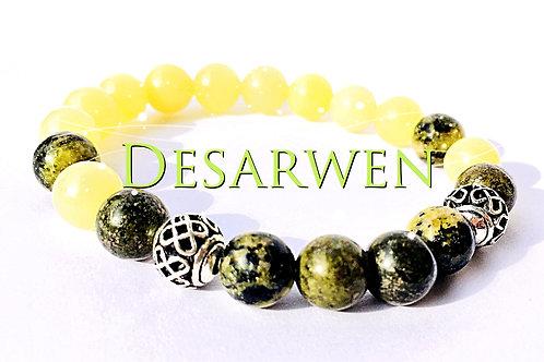 Lapis verts, jade jaune et turquoises vertes