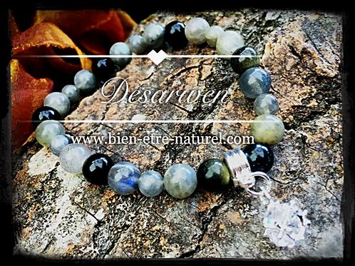 Bracelet Labradorites & Obsidiennes Dorées