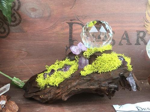 Mini Branche Améthystes et Lichen