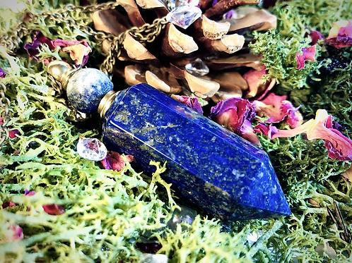 Pendule flacon lapis lazuli
