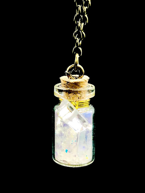Fiole Talisman Harmonisante purifiante  selenite cristal