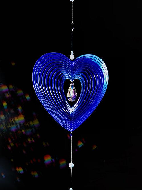 Hypnotique coeur bleu