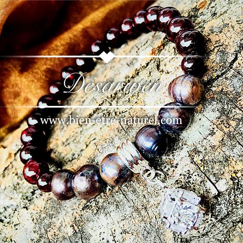 Bracelet Grenats & Nacres