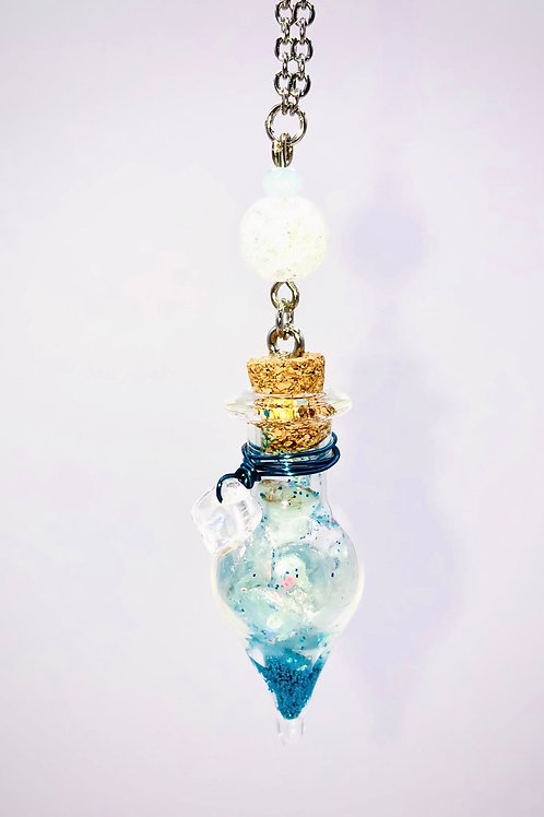 Fiole Talisman aigue marine cristal