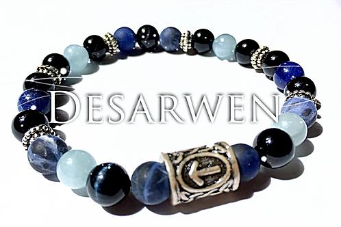 Bracelet Sodalite et rune