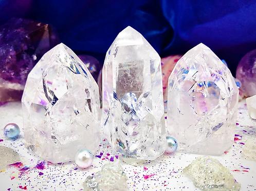 Pointes de cristal craquelées