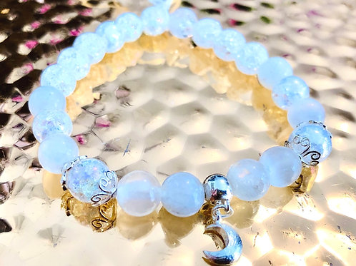 Bracelet lune argent 925