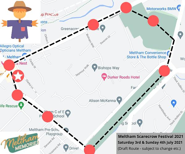 Meltham Scarecrow Festival 2021 - Draft