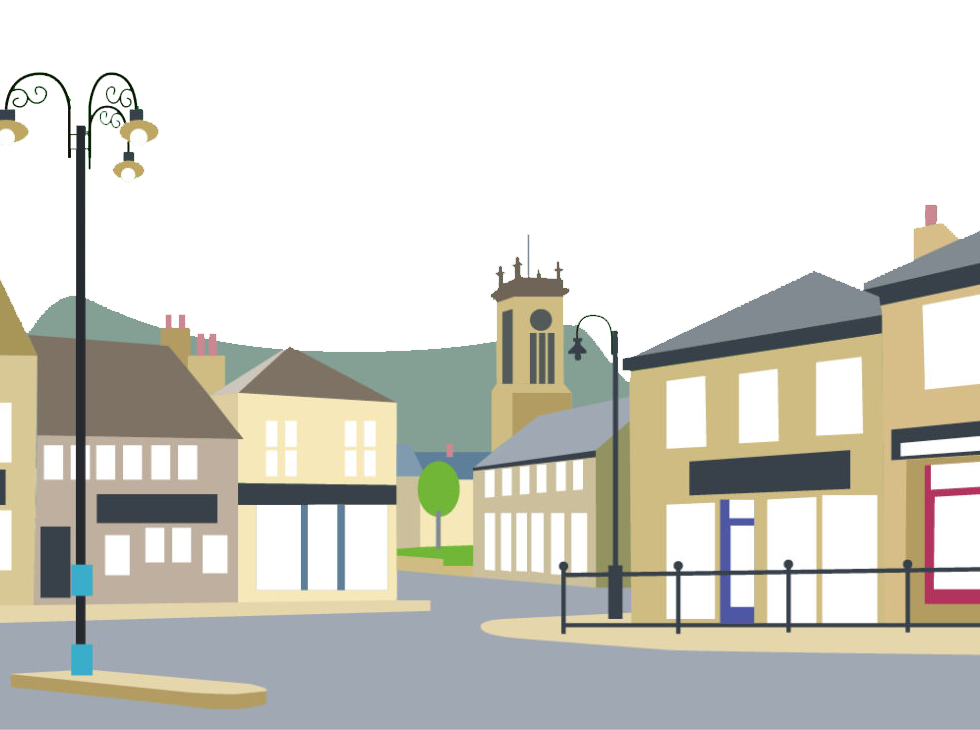 Meltham Village Cartoonised - Plain.png