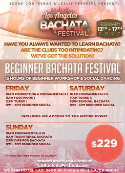The beginner Bachata Festival at the Los Angeles Bachata Festival