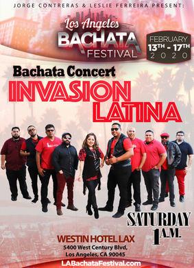 Invasion Latina Bachata Conecrt at LA Bachata Festival