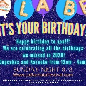 SUNDAY NIGHT: Happy Birthday! We're Celebrating all the birthday's we missed in 2020! Cupcakes & Karaoke!!!