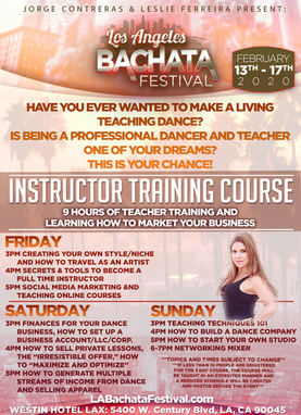 Bachata Instructor traing Course Festival at the Los Angeles Bachata Festival
