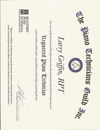 Larry Griffin Dynamic Piano Service Registered Piano Technician Guild