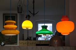 farbige Glaslampen
