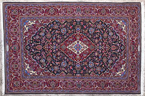 Kashan Qurk Wool Signed 4.5' x 7.5'