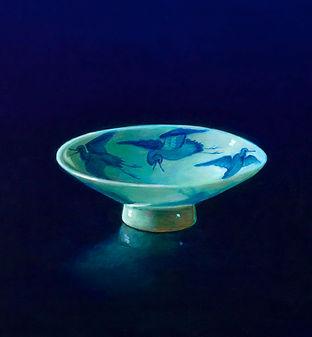 schilderij Debora Makkus Hirado porselein, painting Hirado porcelain