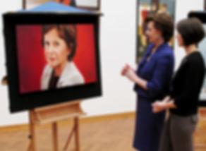 Neelie Kroes en Debora Makkus tijdens Sterren op het doek