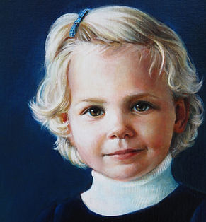 portret meisje geschilderd door Debora Makkus, portrait painting girl