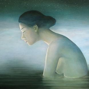 realistisch schilderij menselijke figuur, vrouw, Debora Makkus, realistic painting female figure