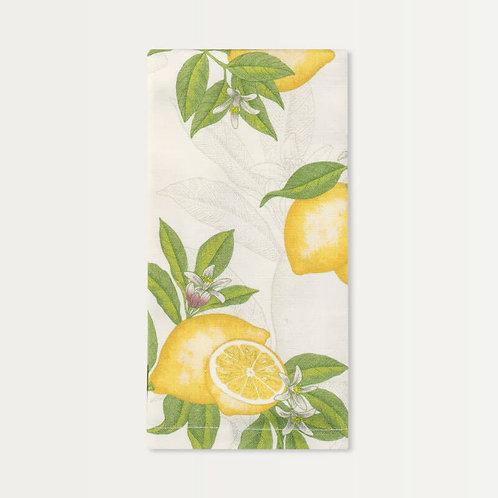Cotton Sateen Napkins in Lemon Blossom