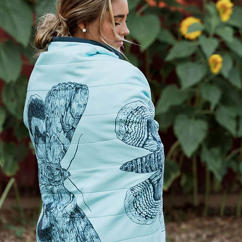 Three Moths Quilted Throw Mini
