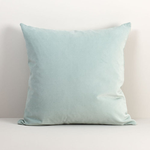 Velvet Square Pillow Cover in Chalk Blue
