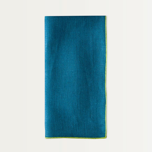 Linen Napkin Set in Peacock Teal